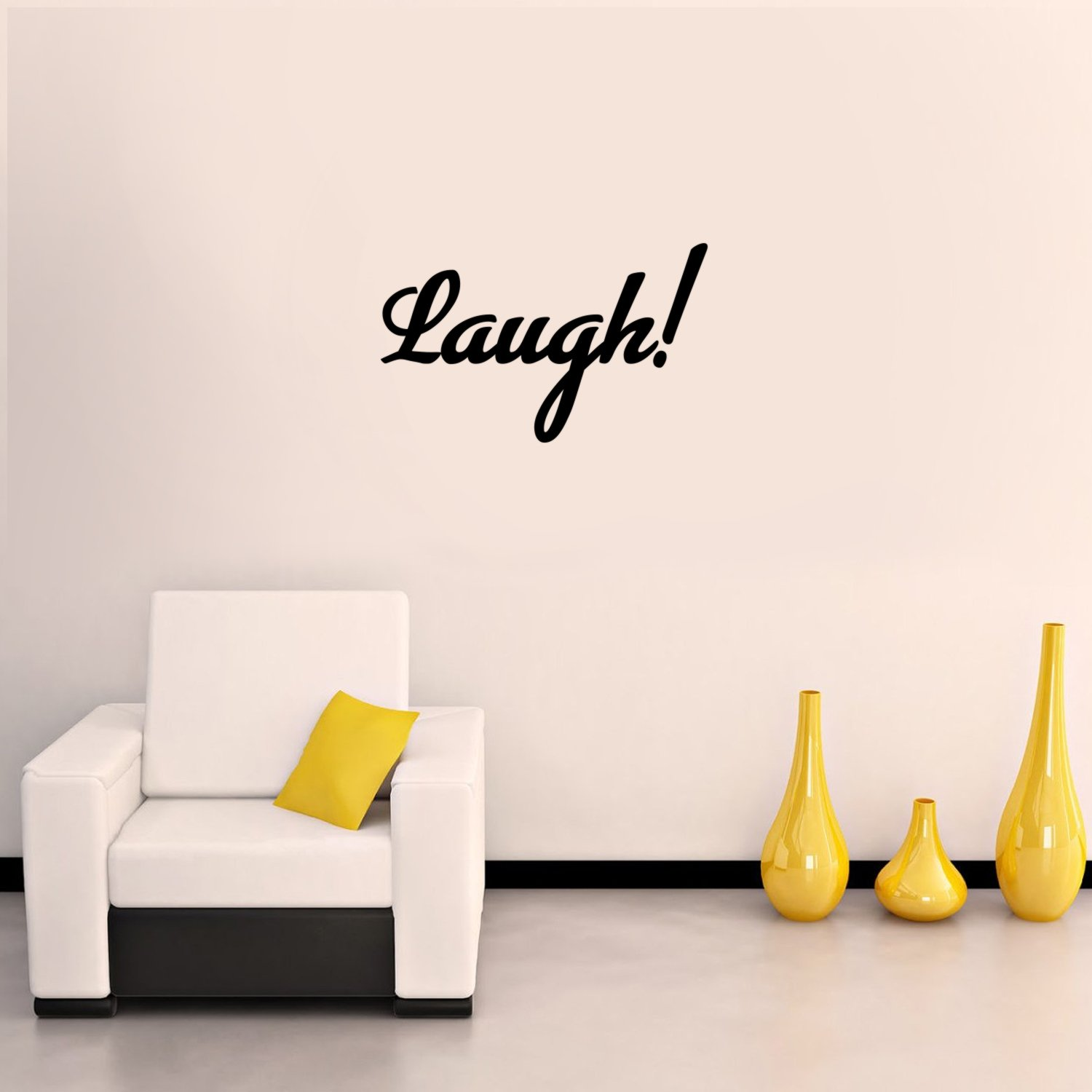 Laugh Inspirational Quote Trendy Vinyl Stickers 8 x 12 Decoration Wall Art Bedroom Living Room Wall Decor Wall Art Decal