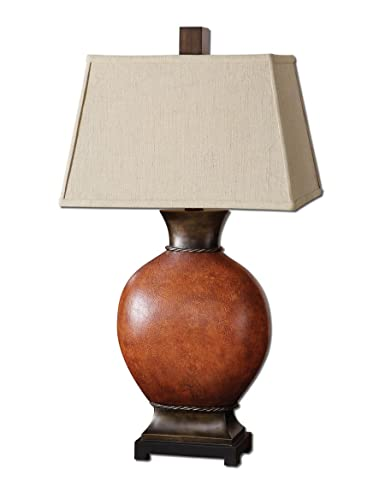 Uttermost 26517 Suri Burnished Dark Red Table Lamp Wall Mounted