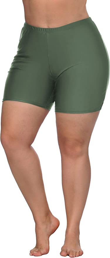 REKITA Women Swim Shorts Plus Size Sports Bottom Beach Board Shorts