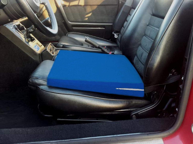 Cuneiforme Ergonomico Ortopedico Supporto Lombare CUSCINO A CUNEO -Nero- Rialzo per Sedile Auto Correttore Postura Schiena per Macchina