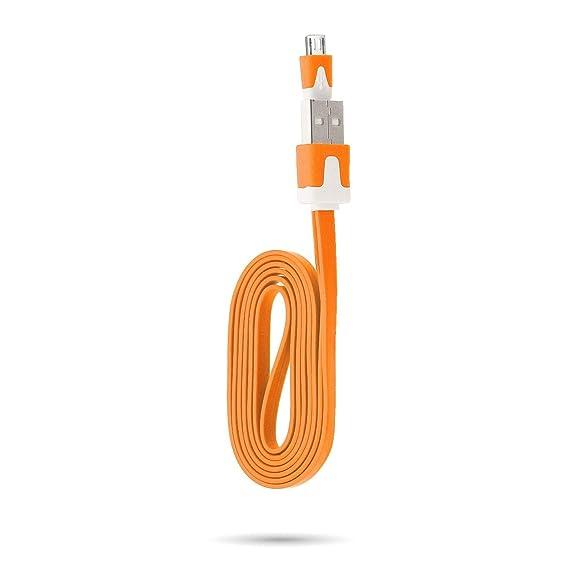 Shot Case Cable Cargador para Motorola Moto C Plus Naranja ...