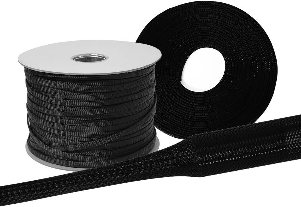 10m 4mm 2-6mm Gewebeschlauch Geflechtschlauch Kabelschutz Polyester