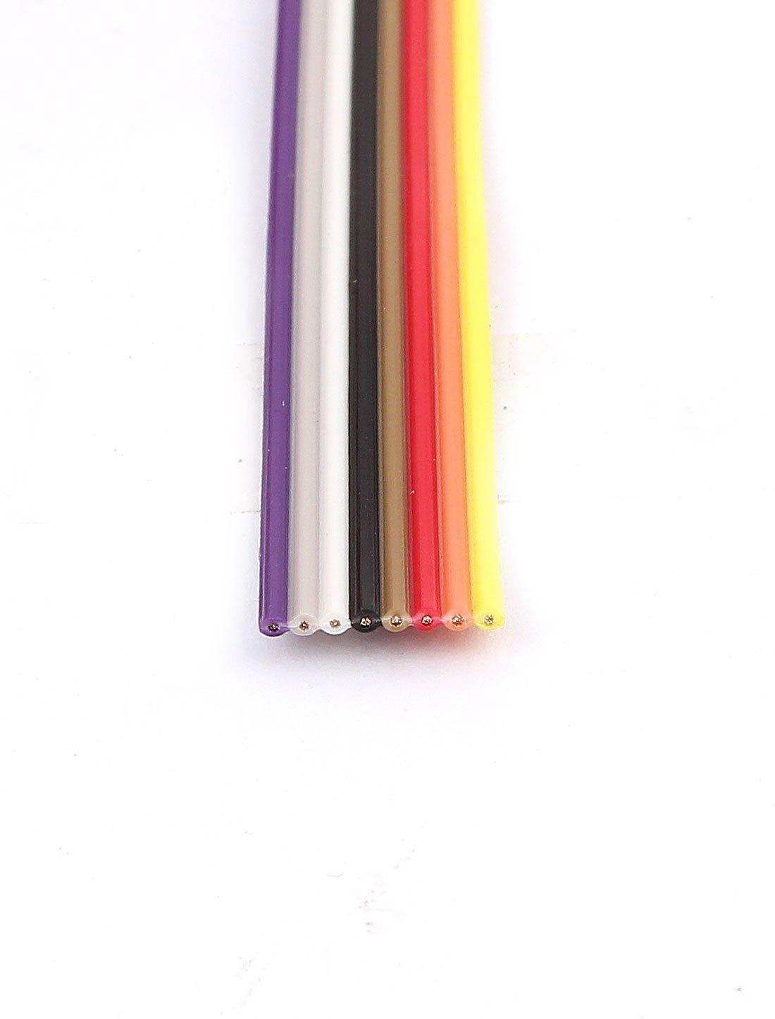 1.27mm eDealMax 2m Cable de cinta plana en color IDC 8 Pin del arco iris - - Amazon.com