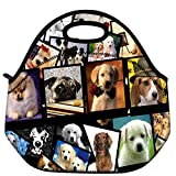 ICOLOR Dogs Design Hot Kids Neoprene Insulated Lunch Food Tote Bag Box cover baby bag Gourmet Handbag lunchbox Case For School work LB-115
