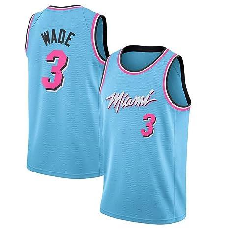 GUOJIUXIAO NBA Jersey, Calor Wade Nº 3 Uniforme Bordado Baloncesto ...