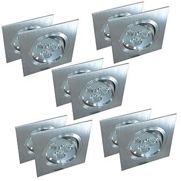 10er Set LED Einbaustrahler Einbauspot Einbauleuchte Deckenstrahler ...