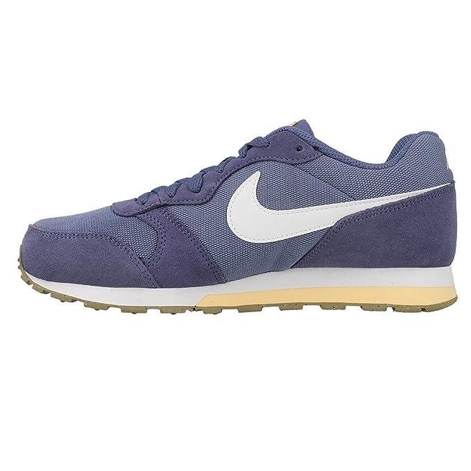 Nike SportswearMD RUNNER 2 - Baskets basses - blue moon/white/melon tint/khaki m4qLEHD