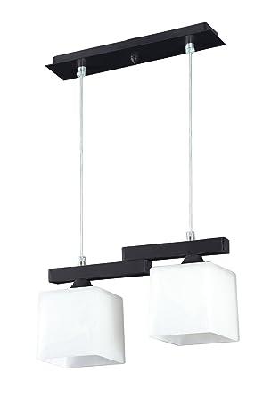 Bauhaus - Lámpara de techo (2 focos, diseño Hogar, en marrón ...
