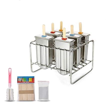 Ice Lolly molde de acero inoxidable Popsicle molde de helado Stick titular de base fabricante Set
