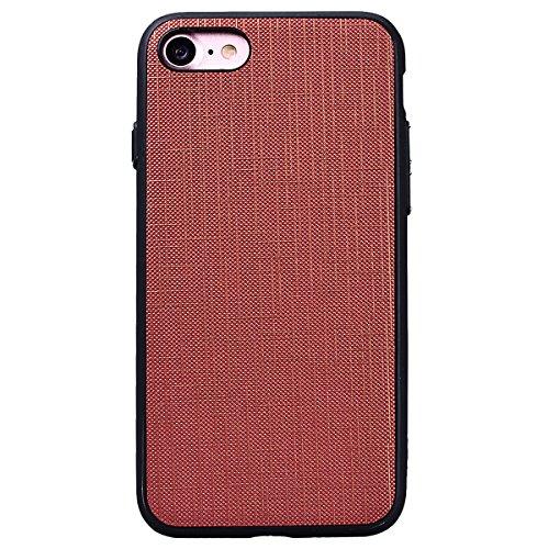 Yokata Cover per iPhone 7 Custodia Gel Silicone Molle di Flessibile TPU Morbido Case Protezione Caso Gomma Bumper Protettiva Shell Lato Nero Backcover Marrone