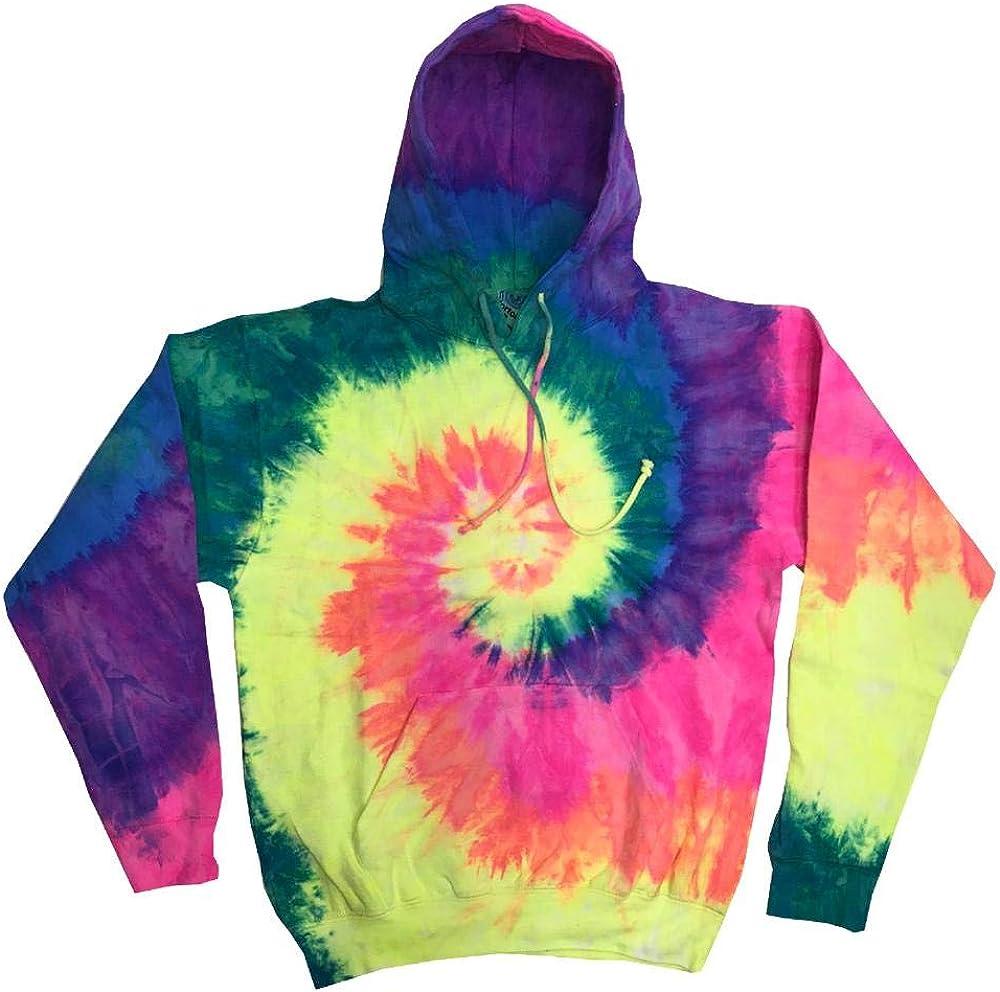 Batik-Optik Colortone Unisex Rainbow Hoodie//Kapuzenpullover