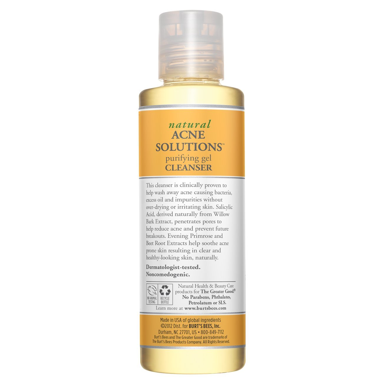 Burts Bees - Natural Acne Solutions Purifying Gel Cleanser - 5 oz. Klorane Floral Water Make-Up Remover With Soothing Cornflower , 13.5 fl. oz. By