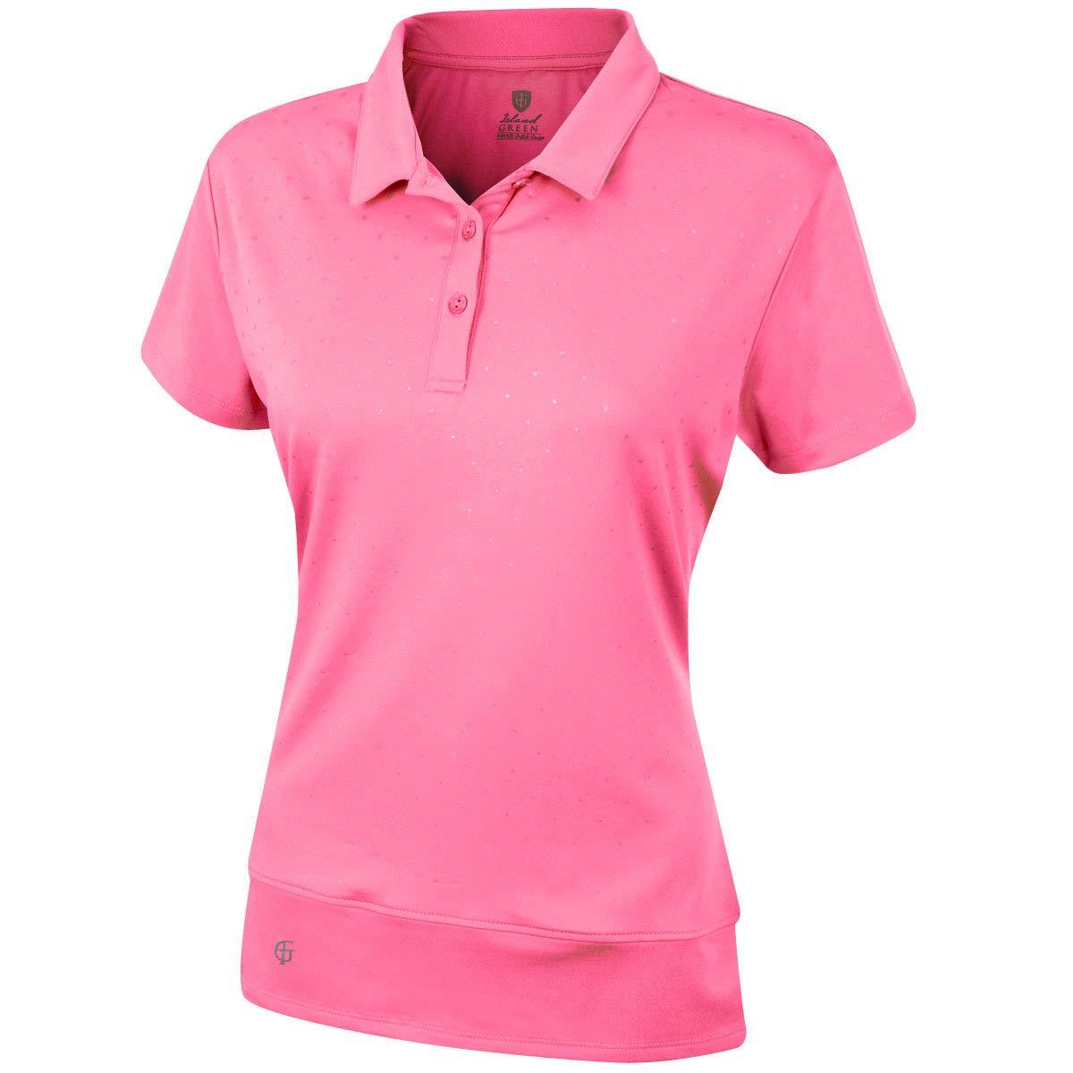 Island Green Womens 2019 Polka Dot Polo Shirt