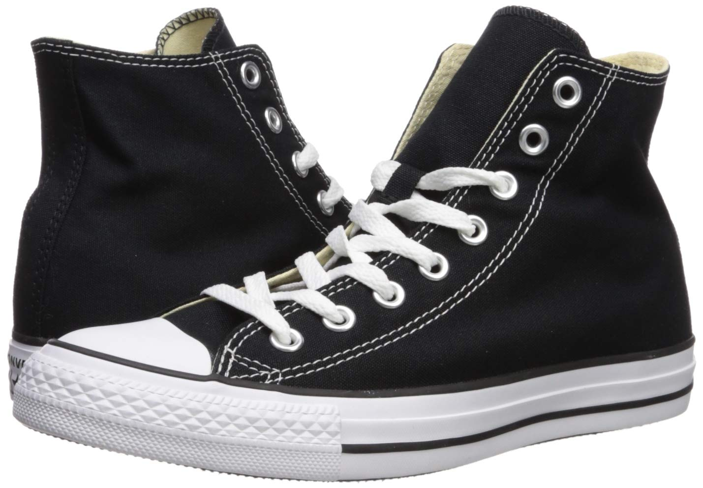 Chuck Taylor All Star Canvas High Top, Black, 4 M US by Converse (Image #6)