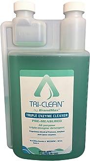 BrandMax Tri-Clean Triple Enzymatic Cleaner, 32oz Pre-Measure, Concentrate