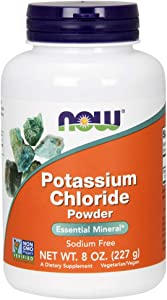 NOW Supplements, Potassium Chloride Powder, Certified Non-GMO, Essential Mineral*, 8-Ounce