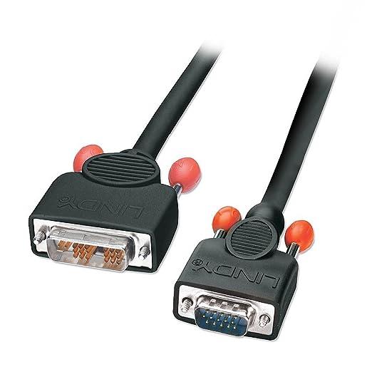 3 opinioni per Lindy 41196 Cavo Adattatore DVI-A/VGA, 2 mt, Nero
