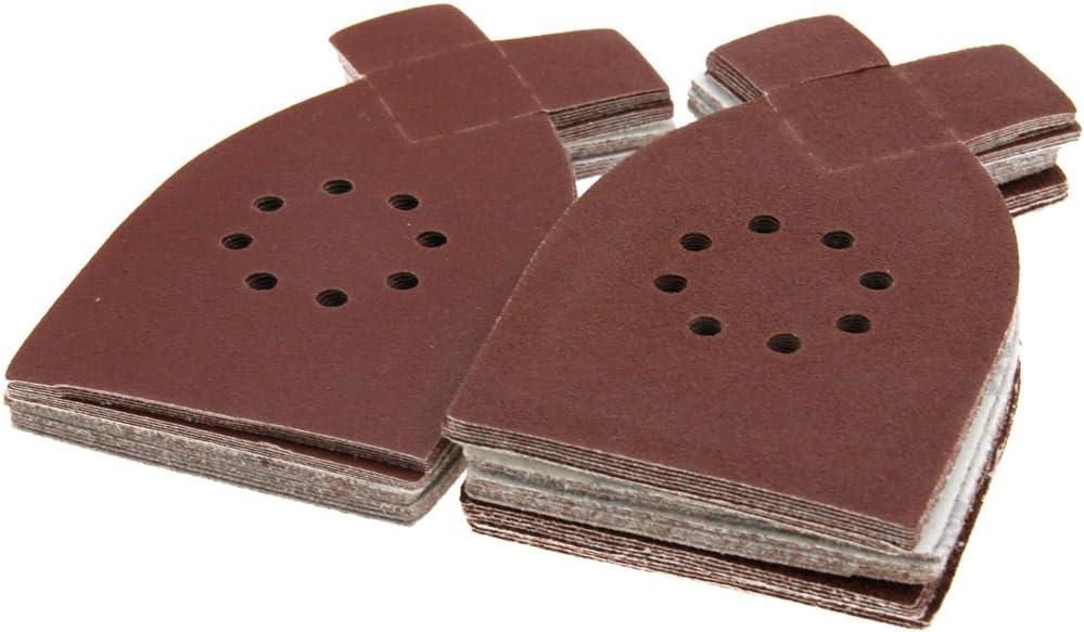 Grains mixtes 40 60 80 100 Lot de 40 feuilles abrasives pour ponceuse Black and Decker