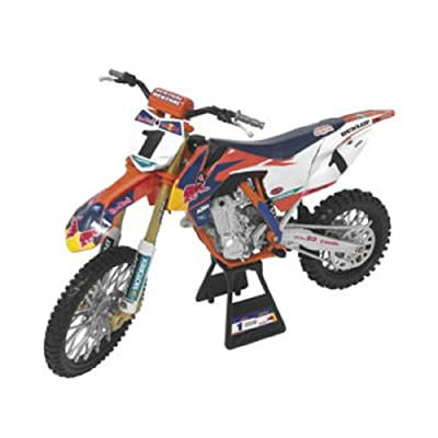 "Orange Cycle Parts Die-Cast Replica Toy 1:10 Scale Model Red Bull 450SX-F Ryan Dungey ""Championship Edition"" by NewRay 57953: Automotive"