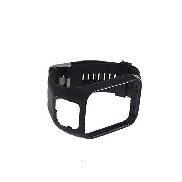 Amazon.com: Micro Trader Correa de reloj de silicona negra ...