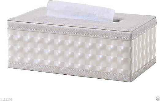 Kingfom rectangular piel sintética caja de pañuelos de papel ...