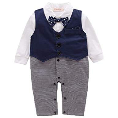 e729bd6e1 ZOEREA Boys Clothes Sets Bow Ties Shirts + Suspenders Jeans Pants Toddler  Boy Gentleman Party Wedding Outfits Suits Blue: Amazon.co.uk: Clothing