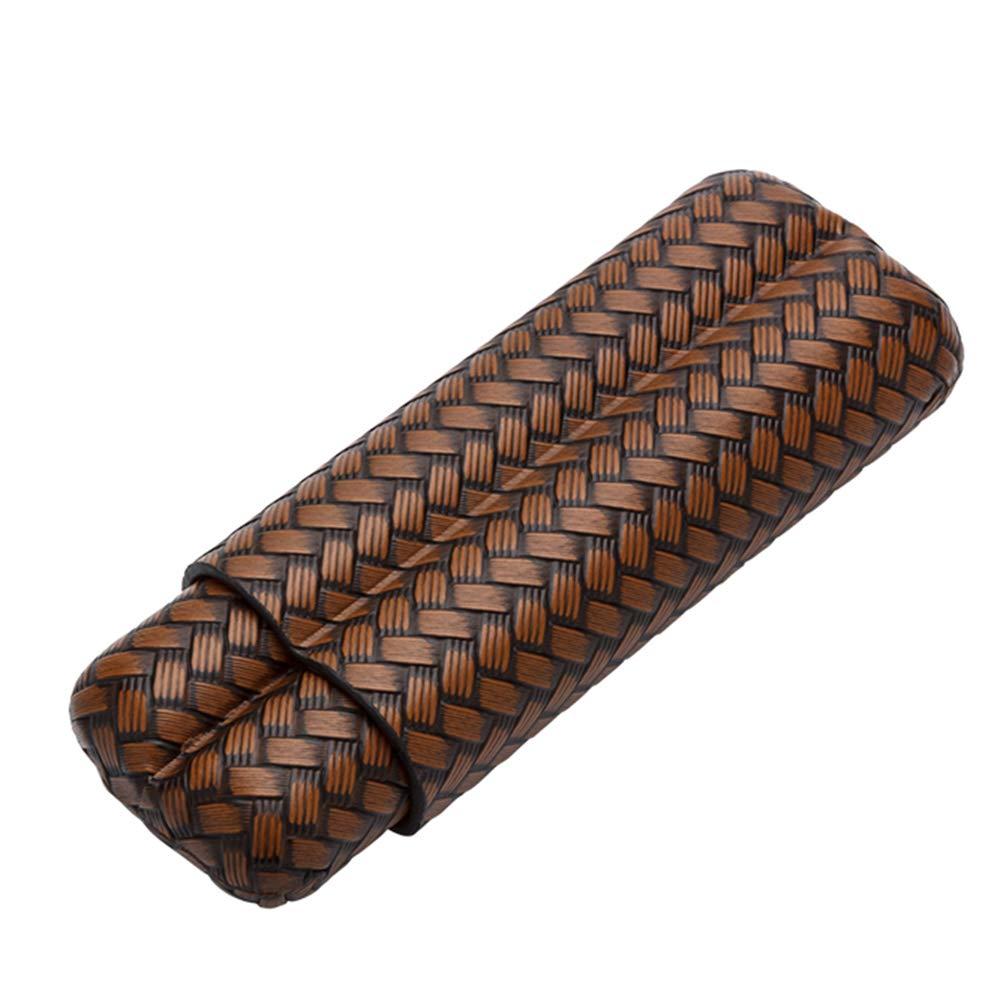 f/ür Reisen Geschenkset Leder Zigarren verpackt in sch/öner Geschenkbox Bronze Lubinski Zigarrenetui f/ür 2 Finger