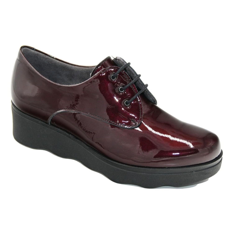 Pitillos - Pitillos 5340 Zapato Plataforma Cordones Charol Burdeos - 57526 39 EU