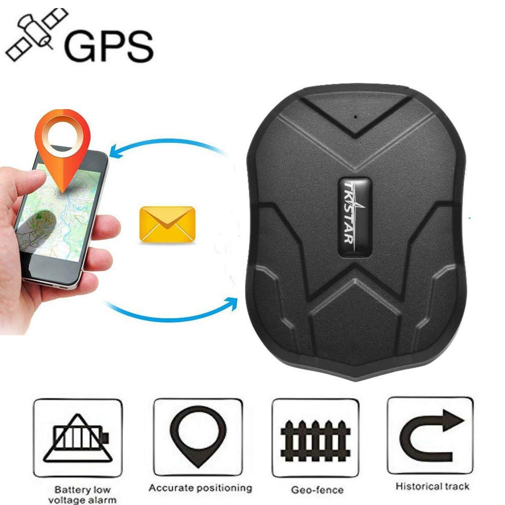 WINNES Long Standby GPS Tracker Dispositivos de rastreador impermeable con potente imán Mini GSM GPRS SMS GPS Locator Global Real -Time Tracking para coche ...