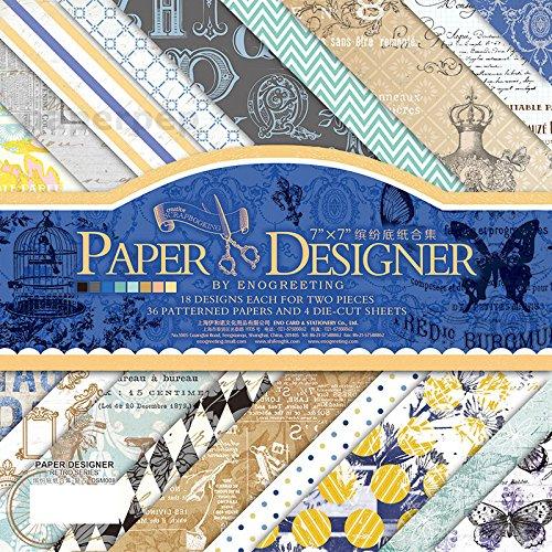 Eno Greeting Paper Pep Pattern Scrapbooking Paper Pack 7