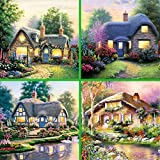 Newbested 4 PCS DIY Diamond Painting 5D Home Decoration Handmade Rhinestone Embroidery Mosaic Cross Stitch