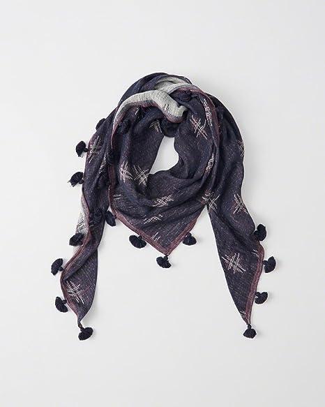 Amazon Com A And F Triangle Tassel Scarf In Purple Pattern Cotton