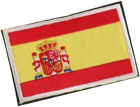 Placa Frontera De La Bandera Nacional De España Hecho A Mano De La Bandera Insignia Bordada España Parche De Costura Española: Amazon.es: Hogar