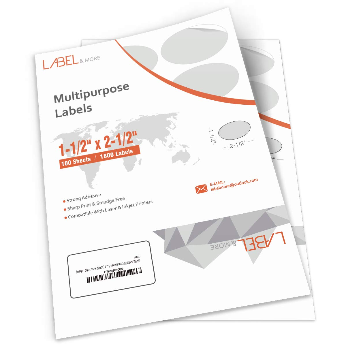 Amazon com labelmore oval labels 1 5x2 5 inch printable labels