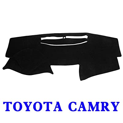 JIAKANUO Dash Cover Fit for Toyota Camry 2007-2011,Dashboard Mat Sunshield Protector Pad Non-Slip,Extra Thick, Anti-Glare (Black MR-027): Automotive