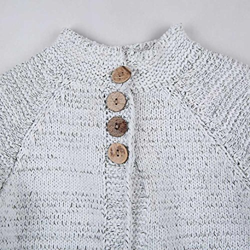 ZLOLIA Baby Clothes Set Autumn Winter Toddler Girls Coat Tops Cardigan Solid Outfit Button Knitted Sweater For 2-8 Year Kids (90, Beige) by ZLOLIA (Image #7)