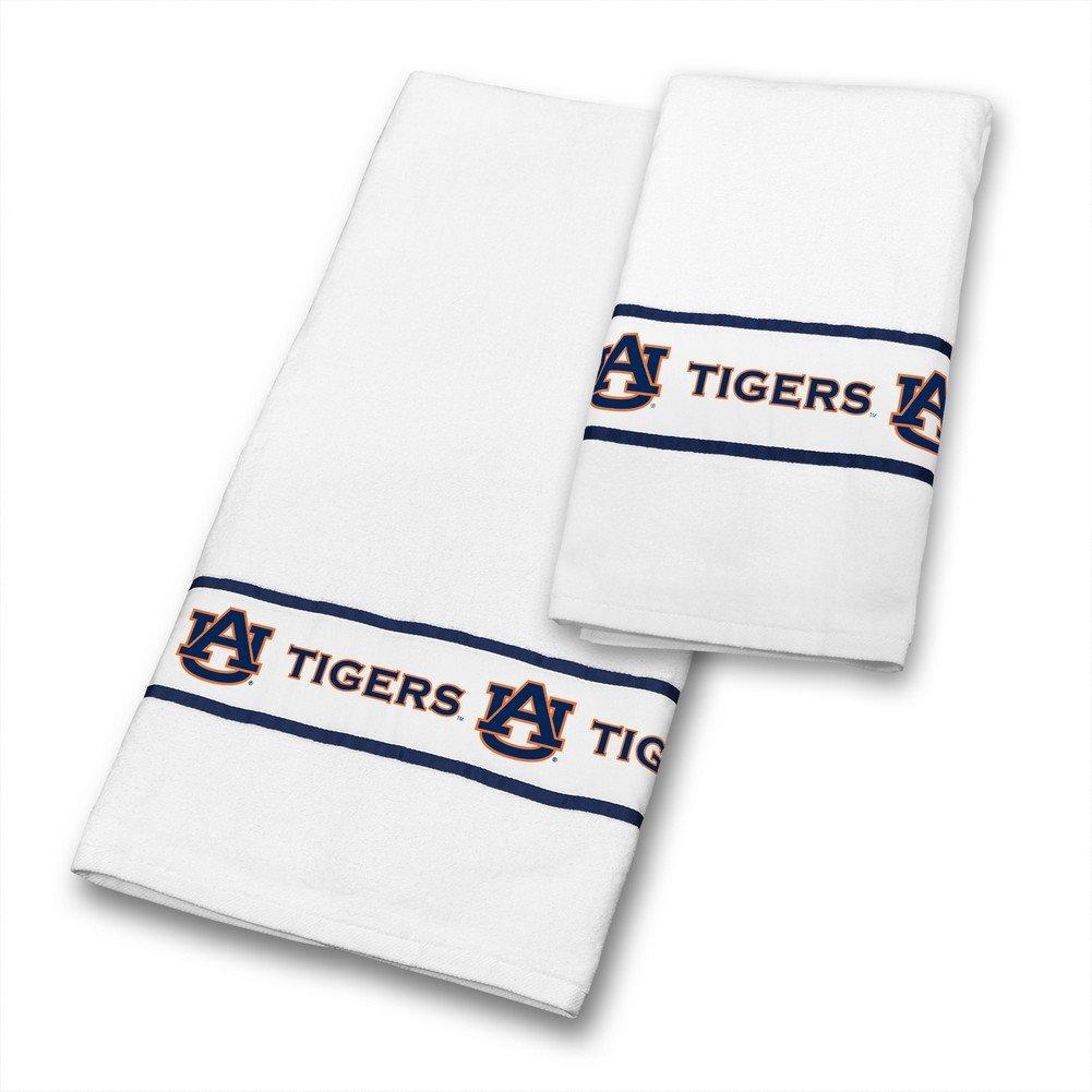 Amazon.com : NCAA Auburn Tigers Towel Set College Bathroom ...
