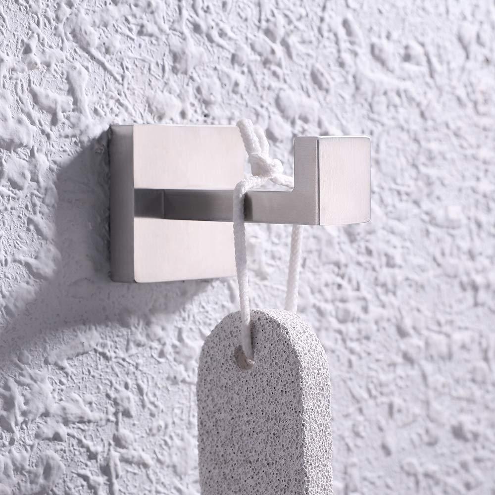 Amazon.com: KES A2560 - Perchero de pared para baño (acero ...