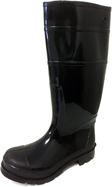 7dab09c7261b9 R-30 Men s Rain Boots Black Rubber Waterproof Knee Slip-resistant Snow Work  Shoes