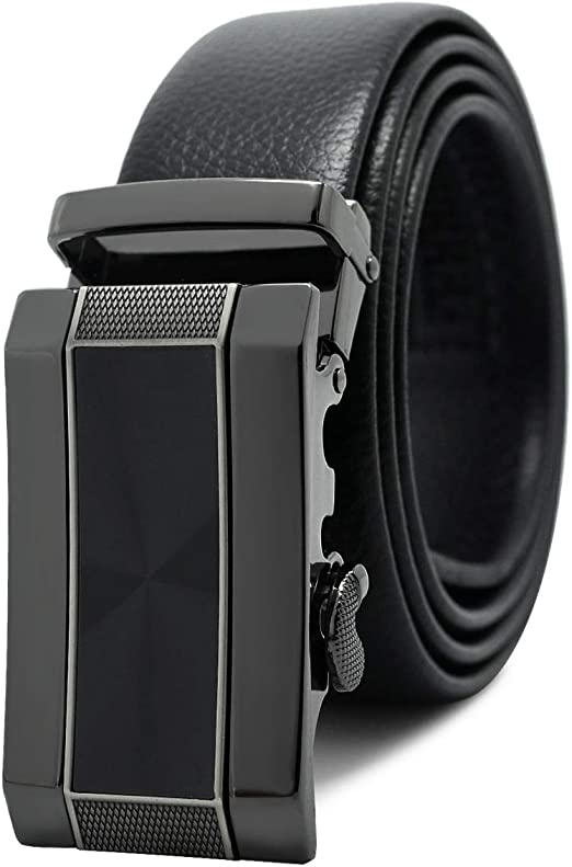 Teemzone Men/'s Automatic Ratchet Belt Genuine Leather Business Casual Style S...