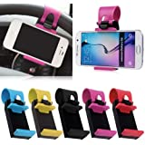 SDO Universal Car Steering Wheel Mobile Phone Socket Holder For Apple Iphone 6 6S Plus 5C 5S / Iphone 4 4S /Samsung Galaxy Xiaomi Lenovo Mobile Phones Upto 5.5 Inches