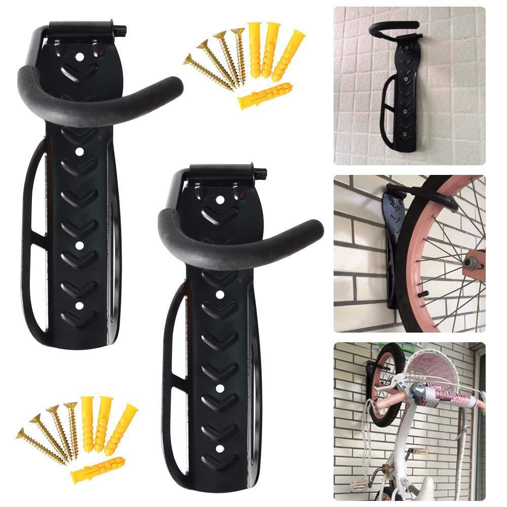 Mount Storage Rack Holder Hanger Stand Hook Garage CESHUMD 2 Pcs Bike//Bicycle Wall Mounted Hook