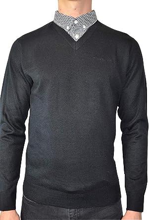 Pierre Cardin - Jersey de punto con cuello en V para hombre