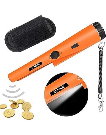 Pinpointer Detector de Metales, zonpor Portátil Impermeable alta sensibilidad 360° Escaneo de Detector de
