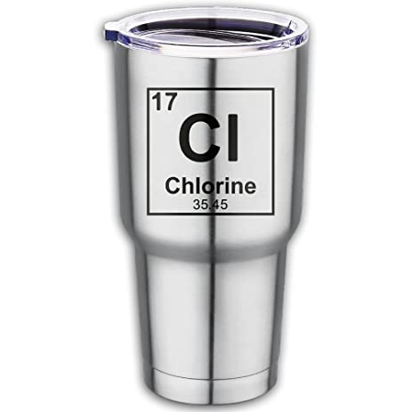 Amazon Stainless Steel Periodic Table Element Chlorine Travel