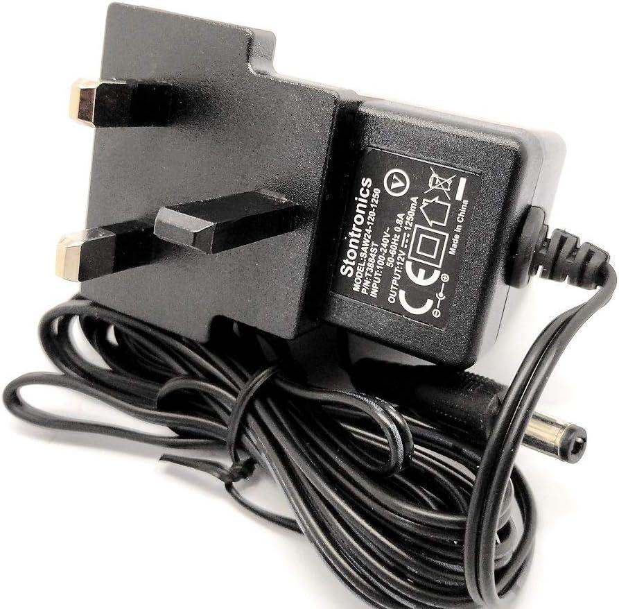 12V Yamaha PSR-300 keyboard UK Power supply adaptor charger lead
