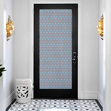 Amazon Com 3d Diy Door Sticker Wall Decals Mural Wallpaper Geometric Ancient Arabesque Oriental Mot Removable Self Adhesive Wall Decal For Home Decoration W15 X L78 7 Inch Baby