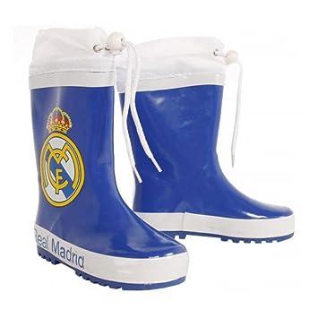 Botas agua Real Madrid azul cierre ajustable
