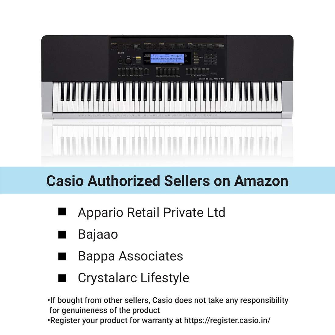 Casio WK-240 - Teclado MIDI (Botones, Corriente alterna, Batería, DC, LCD, USB): Amazon.es: Instrumentos musicales