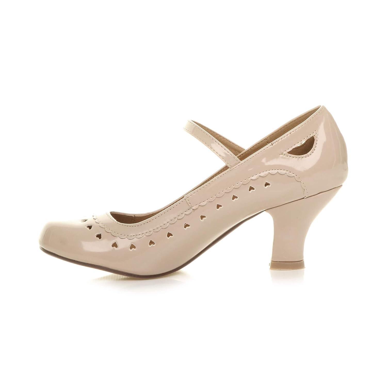 Chaussures escarpins babies classique c/œur d/écoup/ée femmes petit talon taille